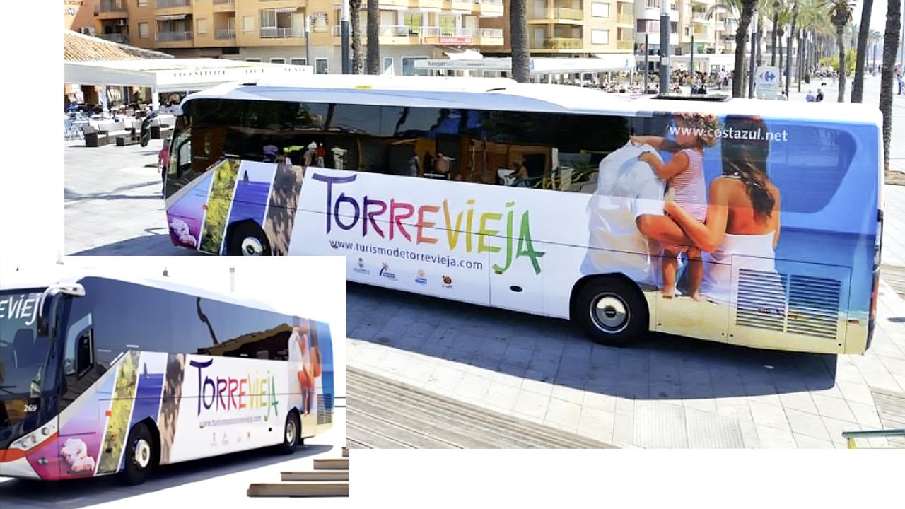 Rotulación autobus - Torrevieja - Publicidad Exterior