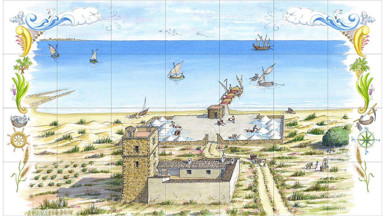 Acuarela - Mosaico La Mata - Torrevieja