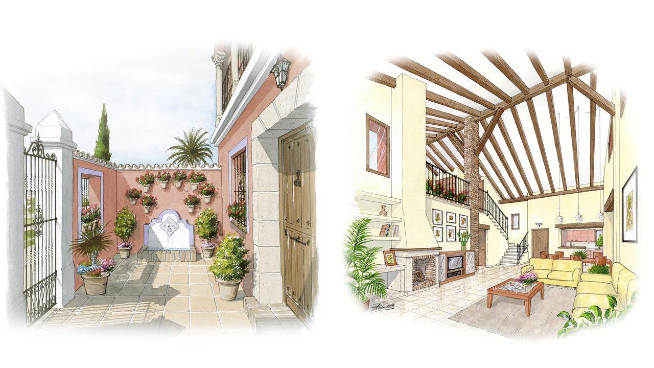 Acuarela - Chalet interior Torrevieja