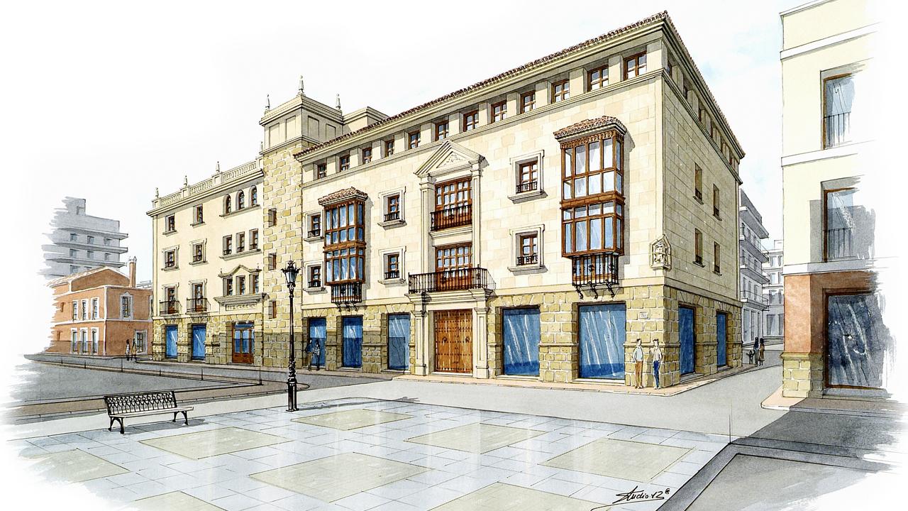 Acuarela - Edificio Orihuela