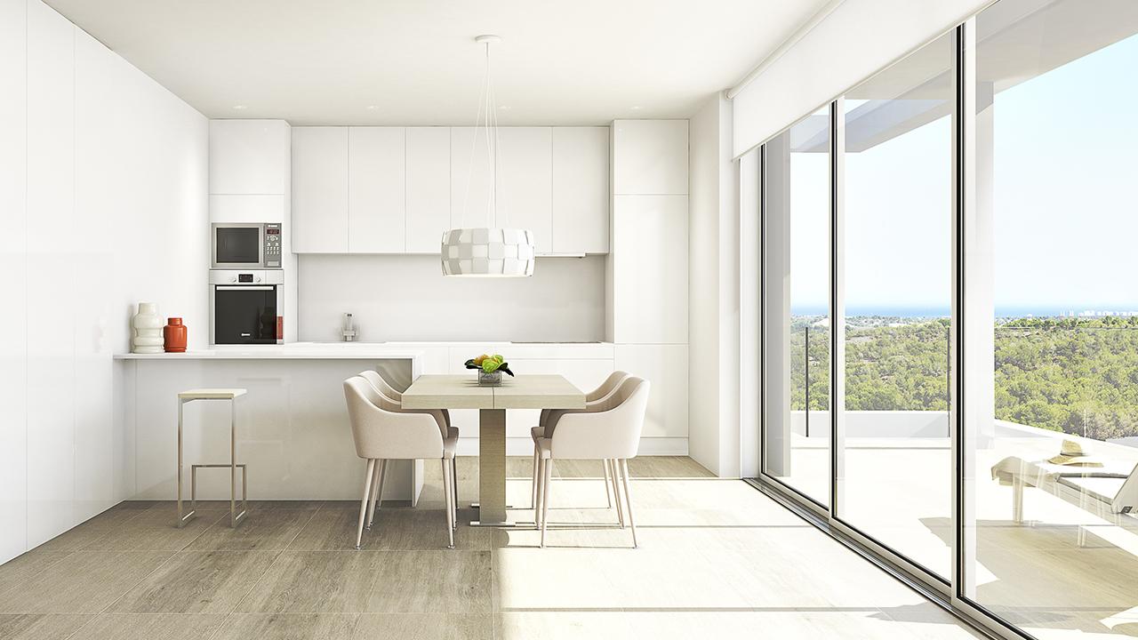 Cocina Apartamentos - 3D